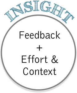 Feedback + Effort + Context = Insight